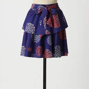 Anthropologie Odille Bold Felicia Skirt 100% silk!